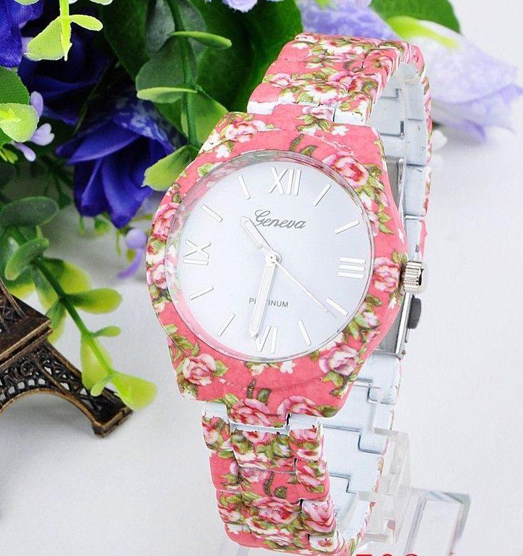 Geneva Flower Style Fém Női Óra