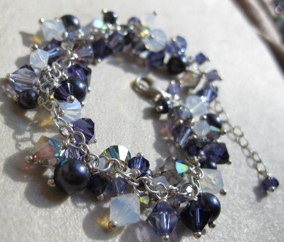 Handmade Swarovski crystal bracelet, handcrafted jewelry by www.BethanyRoseDesigns.etsy.com
