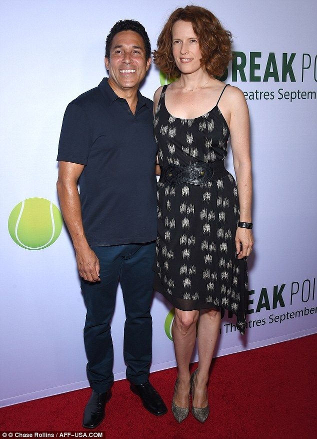 On point!Oscar Nunez and Ursula Whittaker managed to capture the camera at the right mome...