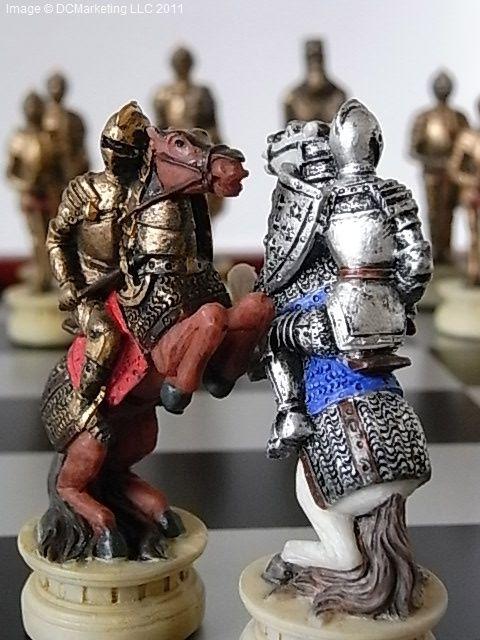Medieval Warrior Themed Chess Set http://bit.ly/1bbKNhv
