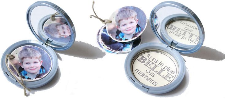 fun repupose for a makeup compact. I will scouring yard sales now. thinking christmas ornament potential