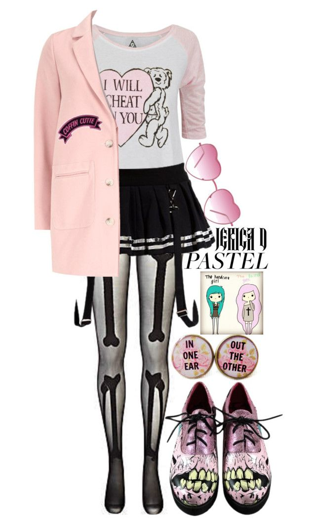 """Pastel Gothic"" by designbecky ❤ liked on Polyvore featuring River Island, UNIF, Abbey Dawn, Almost Famous, Iron Fist, women's clothing, women, female, woman and misses"