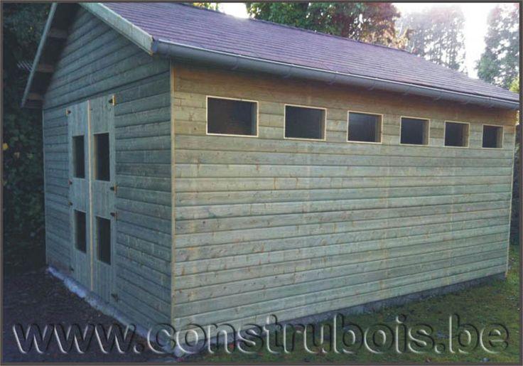les 25 meilleures id es de la cat gorie garage bois toit. Black Bedroom Furniture Sets. Home Design Ideas