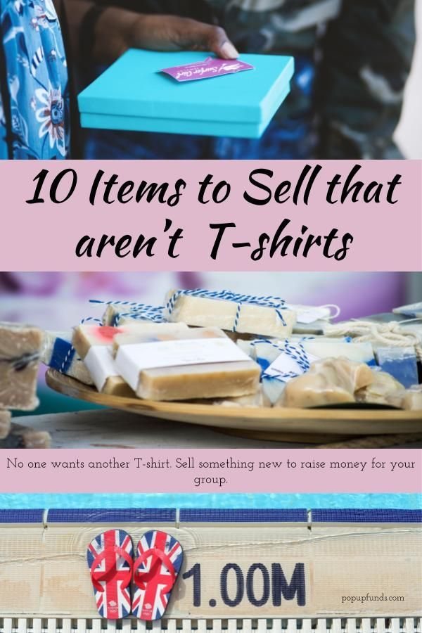 Ten Items To Sell That Are Not T Shirts Fundraising Items