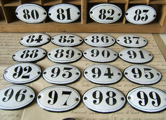 Brand new 108 best Porcelain Enamel Signs / Enamel Numbers / Address Plaques  ZV46