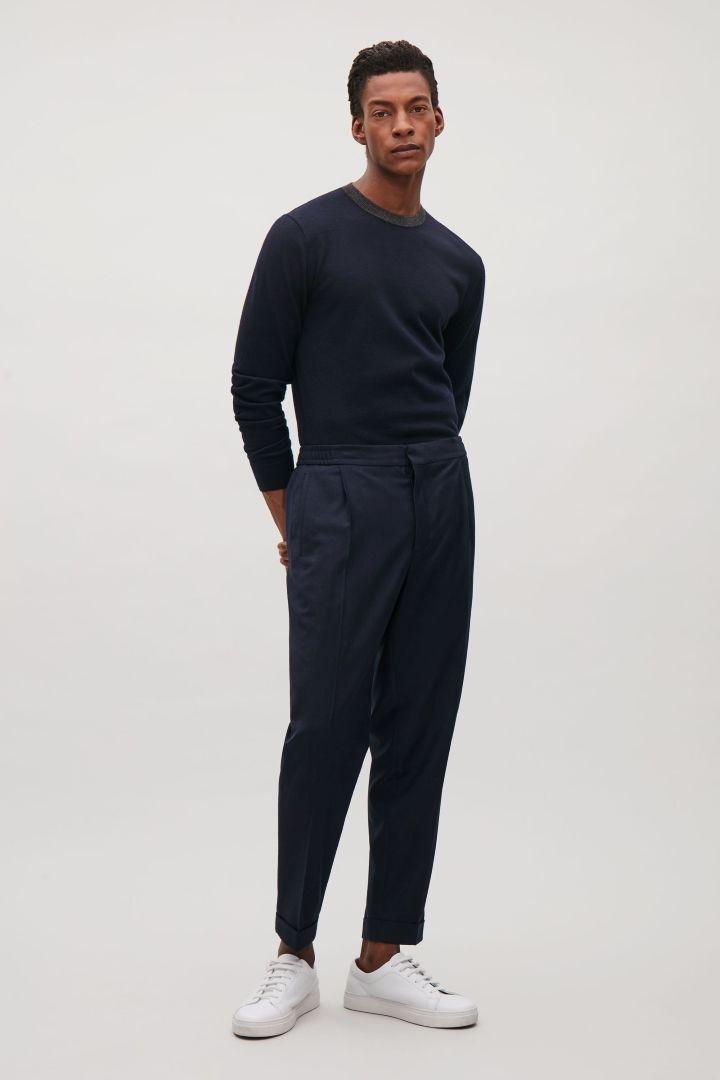COS | Contrast-neck merino jumper