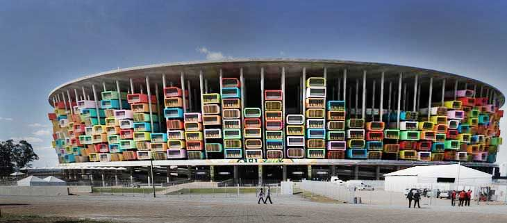 Two French architects named Axel de Stampa and Sylvain Macaux have proposed to Turn Brazil's Empty Stadiums Into Housing For Homeless