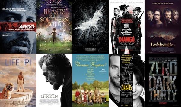 2012 legfontosabb 10 filmje