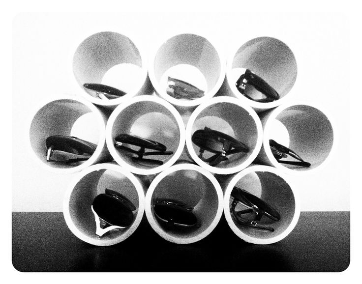 keep your sunglasses organized and in view with this cool PVC pipe display!