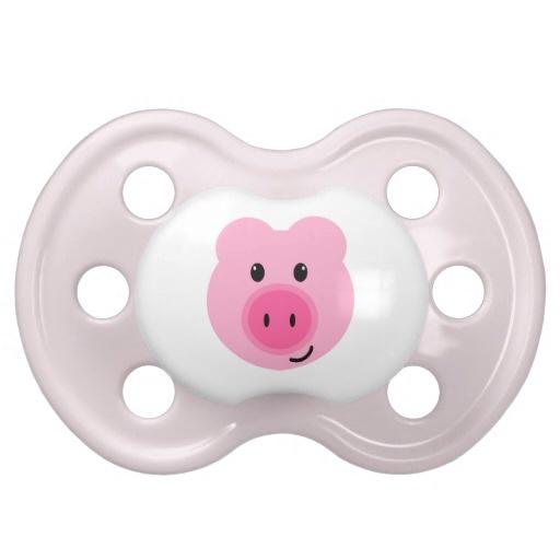 Cute Pink Pig Pacifier