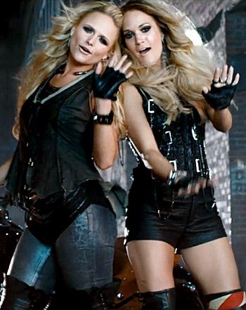 Miranda Lambert, Carrie Underwood in Somethin' Bad Video: Crazy-Sexy L - Us Weekly