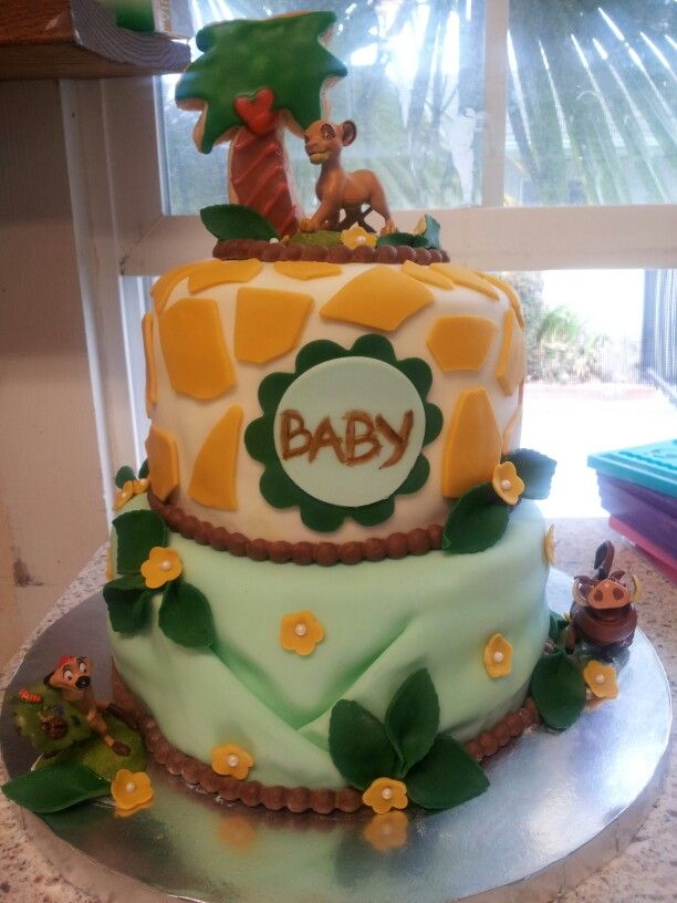 lion king baby shower cake lion king jungle baby shower pinterest