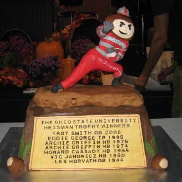 Brutus Buckeye Heisman Trophy Cake