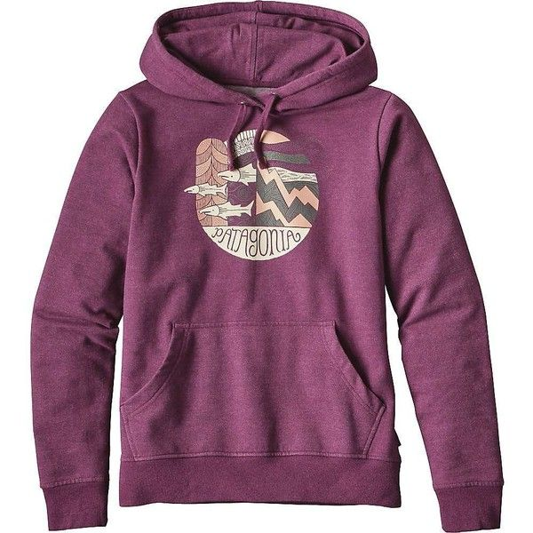 Patagonia Women's Upstream Dream Midweight Hoody ($79) ❤ liked on Polyvore featuring tops, hoodies, violet red and patagonia
