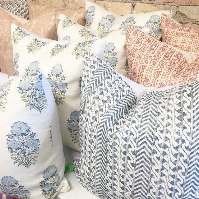 Lisa Fine linen fabrics: Mughal Flower Monsoon, Luxor Coco & Zoraya Rose - Caitlin Creer
