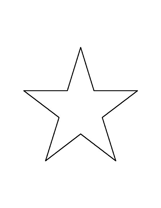 6 inch star pattern. Use the printable outline for crafts, creating stencils, scrapbooking, and more. Free PDF template to download and print at http://patternuniverse.com/download/6-inch-star-pattern/