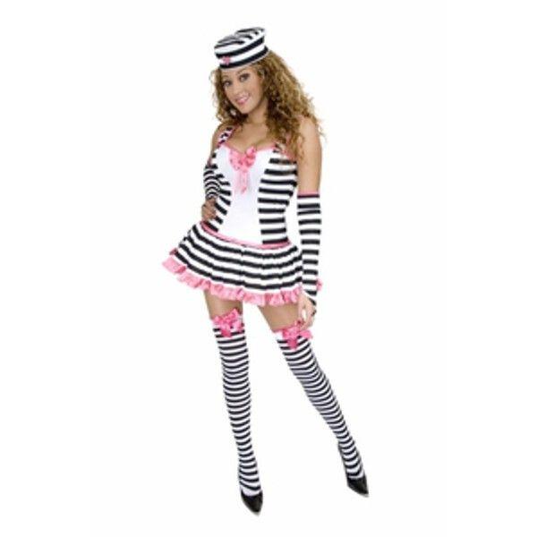 Adult Sexy Pink Prisoner Costume