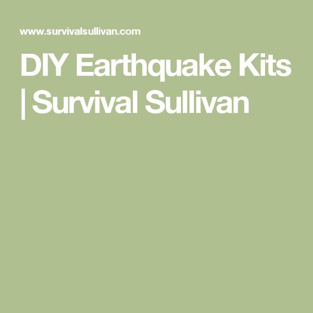 DIY Earthquake Kits | Survival Sullivan