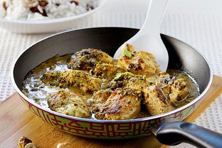 Φιλέτο κοτόπουλου με γιαούρτι, κάρι και φουντούκια - Συνταγές | γαστρονόμος