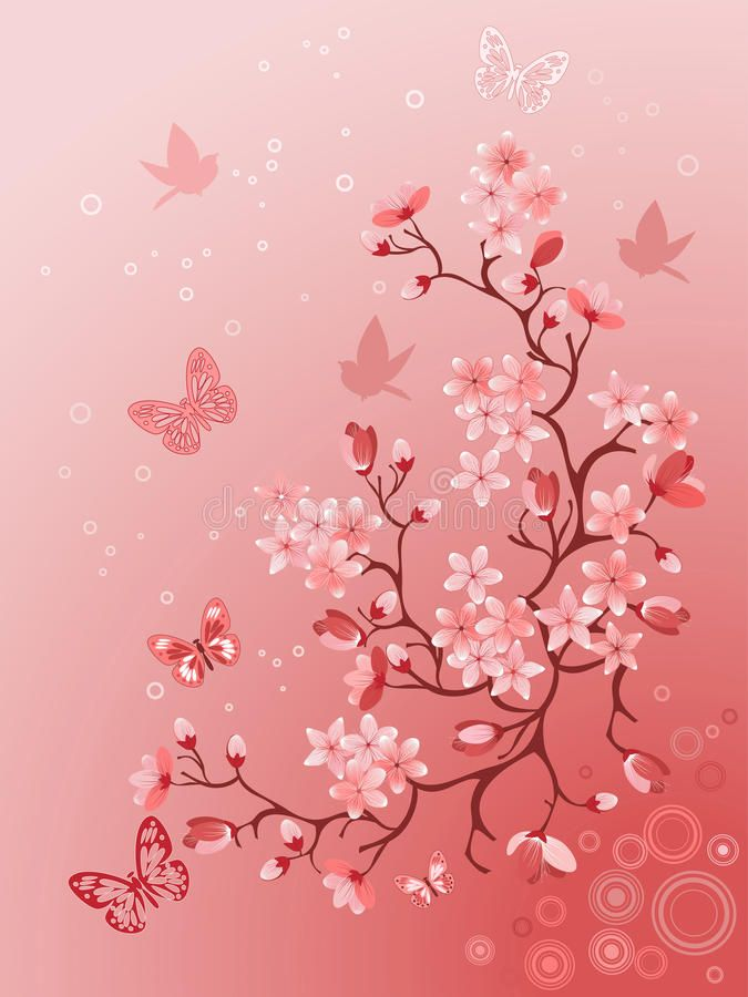 Download Japanese Cherry Tree Stock Vector Illustration Of Color 12913728 Japanese Cherry Tree Sakura Blossoms Art Cherry Blossom Drawing Coolest red cherry blossom wallpaper