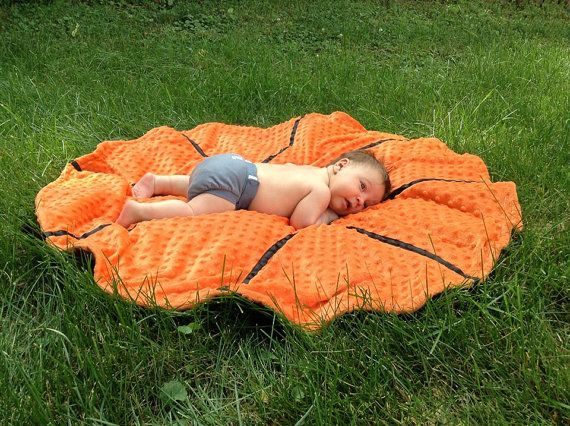 Super soft and sweet Basketball Baby/Toddler Blanket