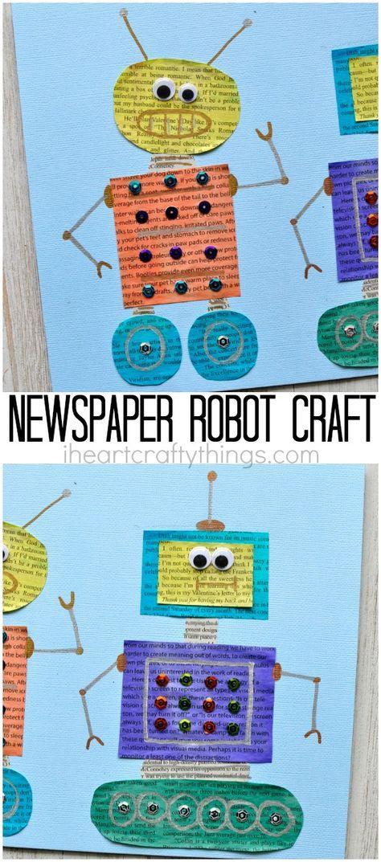 Newspaper Craft For Preschool