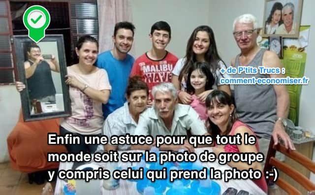 Besoin de prendre une photo de groupe ? Le souci, c'est que celui qui prend la photo de groupe ne sera pas dessus... Alors comment faire pour que tout le monde soit sur la photo ?  Découvrez l'astuce ici : http://www.comment-economiser.fr/comment-prendre-photo-groupe-avec-tout-le-monde-dessus.html?utm_content=buffer04b71&utm_medium=social&utm_source=pinterest.com&utm_campaign=buffer