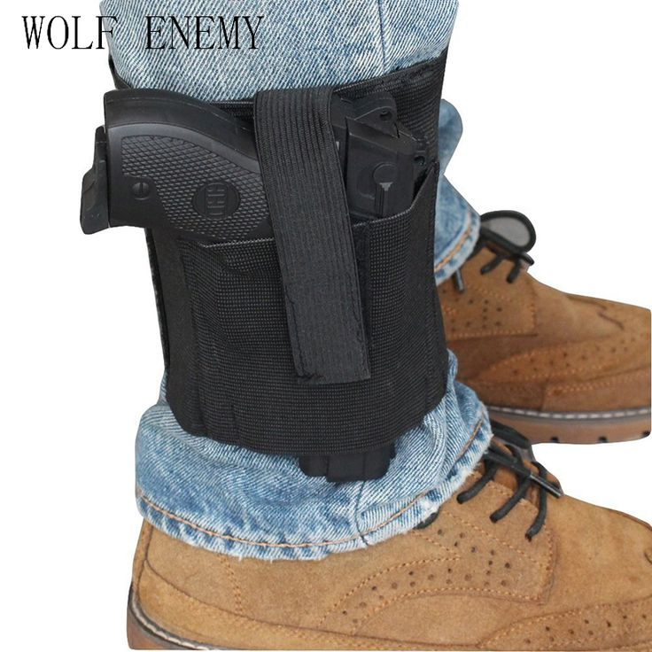 Concealed Universal Black Carry Ankle Leg Pistol Gun Holster LCP LC9 PF9 Small for sig 223 SCCY 9mm.