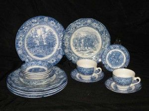 Liberty Blue ChinaWhite China Ironstone, Delight Dishes, Fine China, Favorite Dishes, Blue China, Blue Wedgewood, Liberty Blue Dishes, Blue Staffordshire, Dishes Sets