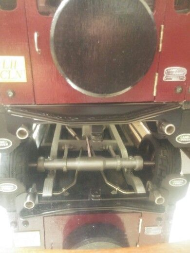 Handmade land rover defender, twin pipes