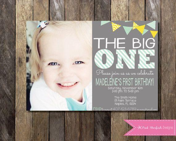 Printable Birthday Invitations For Boy ~ Best first birthday invites images birthday