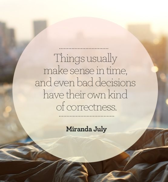 So much truth here (even if it can be hard to see). I heart Miranda July.