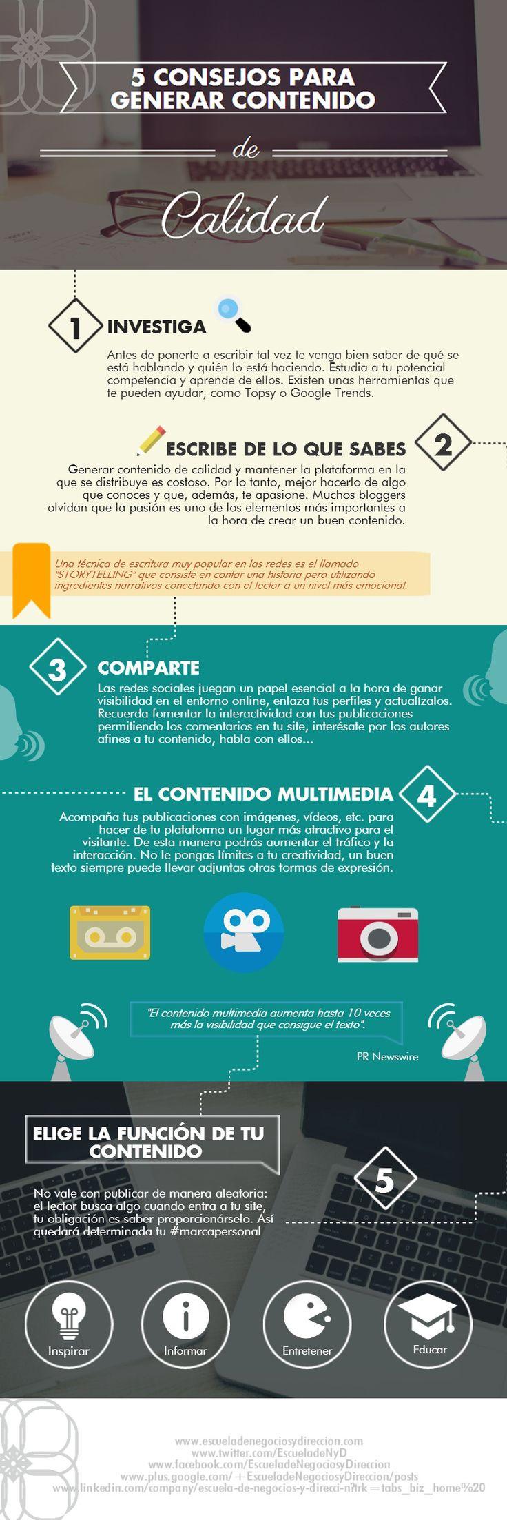 5 consejos para generar contenido de calidad.