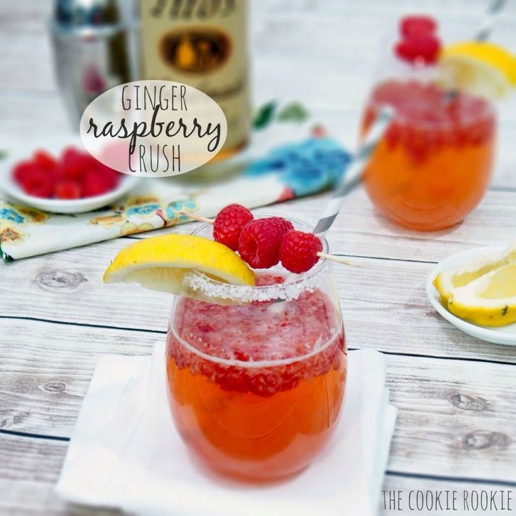Ginger raspberry crush cocktail fun and fruity favorite the cookie