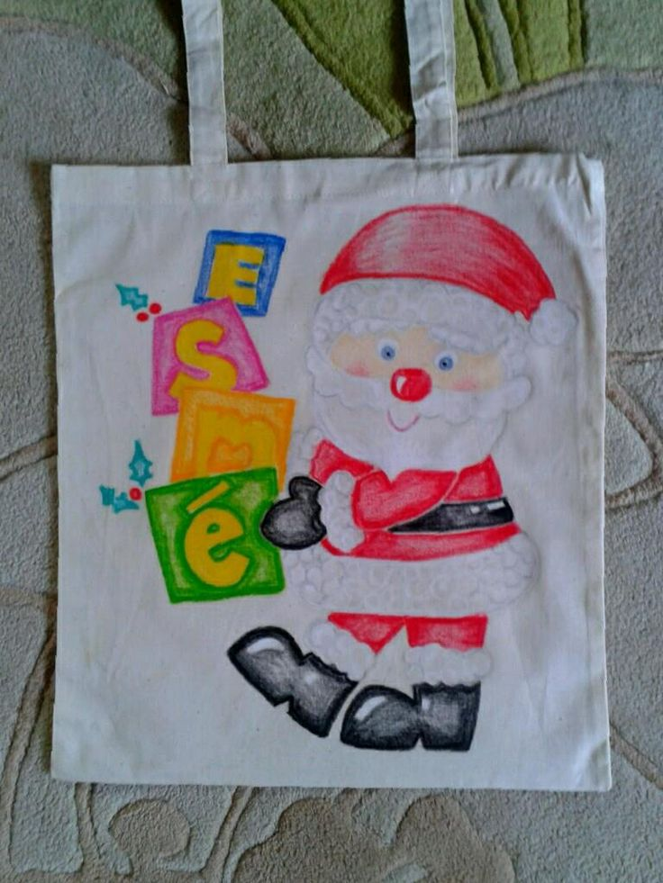 Our Christmas themed sack, ready for all our Christmas books and toys to support them.