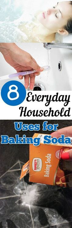 8 Everyday Household Uses For Baking Soda.Cleaning, cleaning tips, home cleaning, cleaning hacks, bathroom, home décor, organization, home organization, DIY, cleaning, do it yourself.