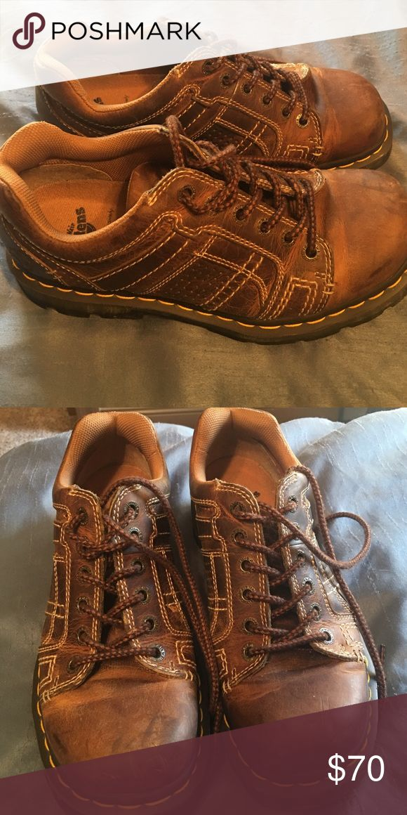 Doc Martins designed by Buckle Brown Doc Martins designed by the Buckle. Size 9. Great condition. Shoes Boots