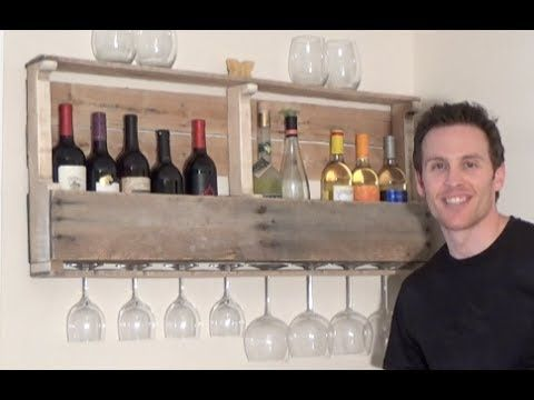 HOW TO BUILD A WINE RACK FROM A WOOD PALLET - YouTube