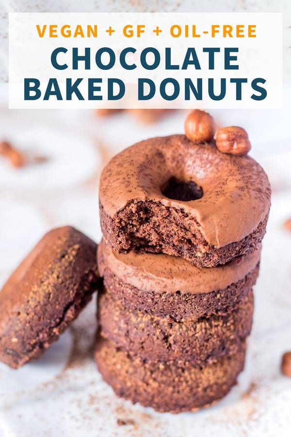 Healthy Vegan Baked Chocolate Donuts Gluten Free Oil Free