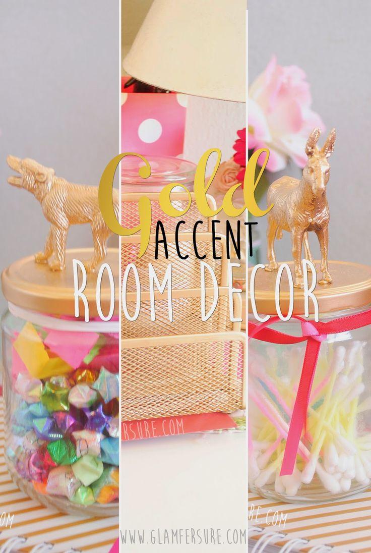 DIY | Decoracion: Acentos Dorados | Gold Accent Room Decor