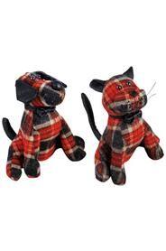 Ajtókitámasztó állatfigurák piros-fekete kockás mintával.Választani lehet cica és kutya közül.Méretek: magasság: 20 cm szélesség: 16 cm mélység:10 cmSúlya: 0,94 kg