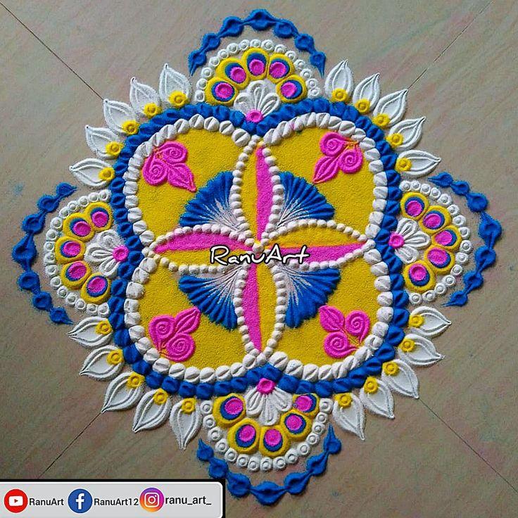 Beautiful Festivals Rangoli design for Diwali in 2020