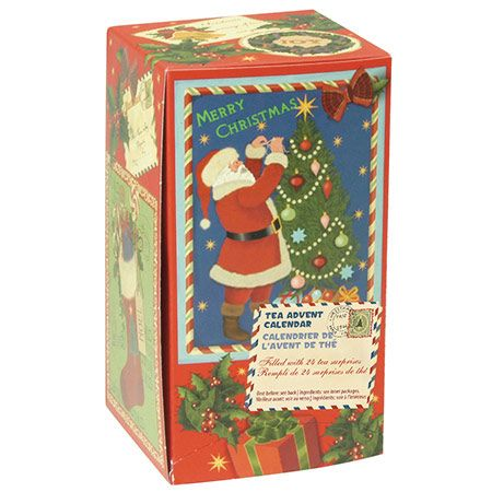 SANTA ADVENT CALENDER 24 DIFFERENT TEAS TO COUNT DOWN TO CHRISTMAS