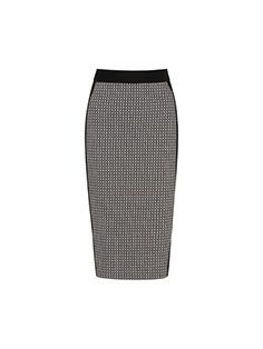 #veronikamaine #office #inspiration #mini #checkerboard #jacquard #pencilskirt #summer13