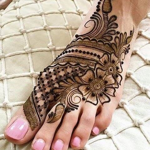 simple henna patterns feet