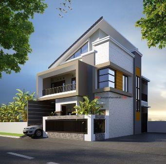 rumah minimalis 2 lantai posisi hook di ciledug