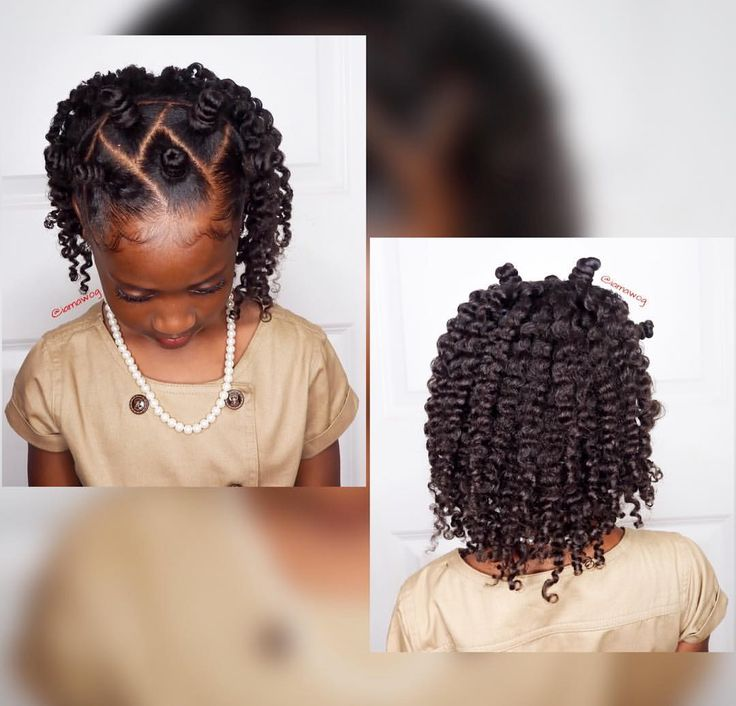 "129 Likes, 3 Comments - D'Asia & RyLei Kai (@iamawog) on Instagram: ""#HOTD Mini Bantu Knots w/a twistout ☺️ using @curlykidshaircare Custard For Kids. Click the link…"""