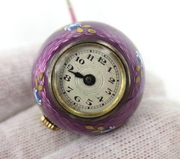 Pocket Watch 19世紀《アンティーク》エナメルボール懐中時計&チェーン Antique ¥298000yen 〆08月21日