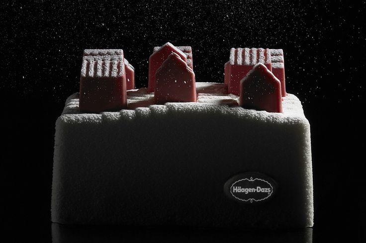 La bûche de Noël 2014 Häagen-Dazs by Nendo.