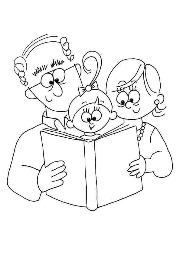 Printable Grandparent S Day Coloring Pages In 2020 Grandparents Day Coloring Pages Coloring Pictures
